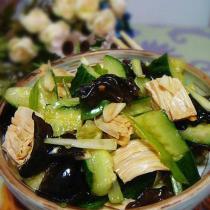 腐竹木耳拌黃瓜的做法