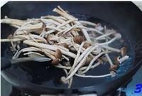 茶樹菇炒咸肉的做法圖解3