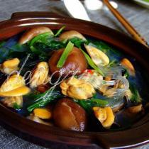 海紅菠菜粉絲煲