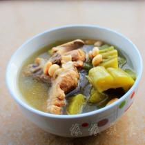 豬骨黃豆苦瓜湯的做法