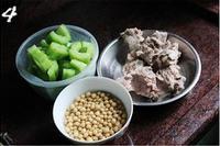 豬骨黃豆苦瓜湯的做法圖解4