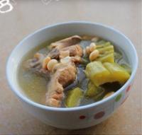 豬骨黃豆苦瓜湯的做法圖解8