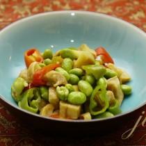 蘿卜乾炒毛豆的做法