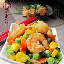 豌豆玉米蝦仁的做法