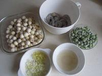 蝦仁青豆蓮子米的做法圖解5