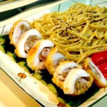 酥核桃釀墨魚義麵