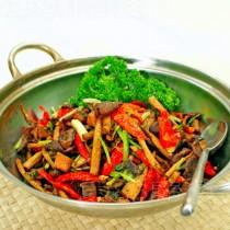 乾鍋茶樹菇的做法