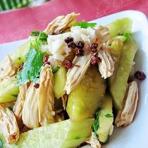 椒油黃瓜拌腐竹的做法