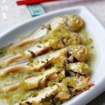 咸菜滷蒸梅童魚的做法