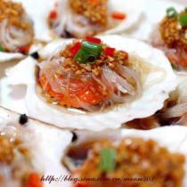 蒜茸粉絲蒸扇貝的做法
