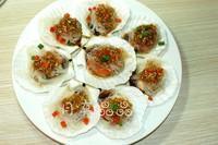 蒜茸粉絲蒸扇貝的做法圖解6