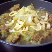 豆乾白菜肉圓湯