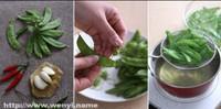 蒜香荷蘭豆的做法圖解1