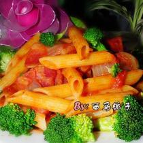 番茄培根義麵