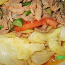 肉澆白菜的做法