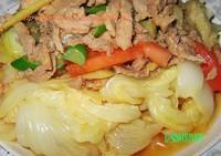 肉澆白菜的做法圖解1