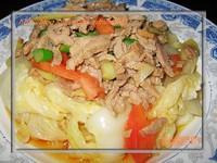 肉澆白菜的做法圖解2