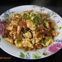 醬瓜末炒蛋的做法