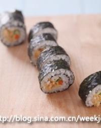 肉鬆壽司的做法圖解6