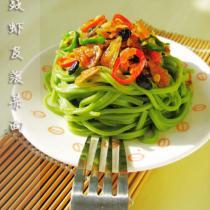 豆豉蝦皮菠菜麵