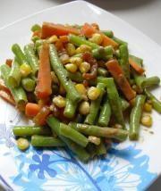 玉米香蝦拌豇豆的做法圖解9