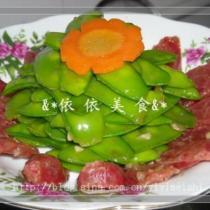 臘腸炒荷蘭豆的做法