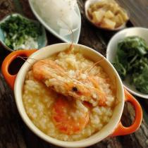 砂鍋金蝦粥