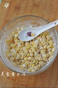 黃金玉米烙的做法圖解4