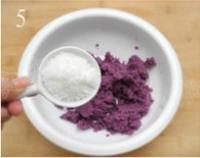 紫薯芝麻餅的做法圖解5
