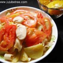 土豆蘑菇番茄炒麵