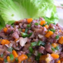 生菜牛肉包