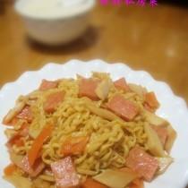 三文火腿炒麵