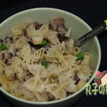 青豆蘑菇義麵