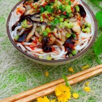 香菇蠔油拌麵