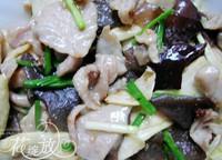 茭白木耳炒肉片的做法圖解4