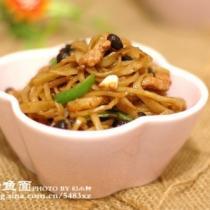 小炒魚麵的做法
