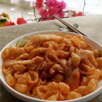辣白菜炒義大利麵