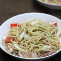 金槍魚蘑菇義麵