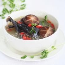 香菇枸杞煲烏雞