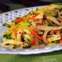 黃瓜拌雞絲的做法