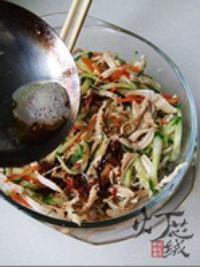 黃瓜拌雞絲的做法圖解10