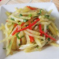 涼拌香辣土豆絲的做法圖解5