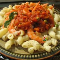 北極蝦肉醬義麵