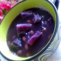 紫薯紅豆湯