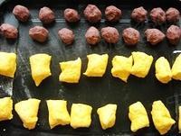 南瓜豆沙包的做法圖解3