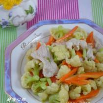 肉片燒菜花的做法