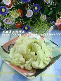 肉片燒菜花的做法圖解2