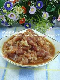 肉片燒菜花的做法圖解3
