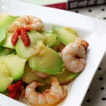 西葫蘆炒蝦仁的做法