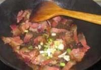 酢廣椒炒臘肉的做法圖解5